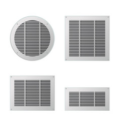 A set of rectangular and circular ventilation vector
