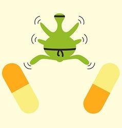 Antibiotics resistance ninja concept vector