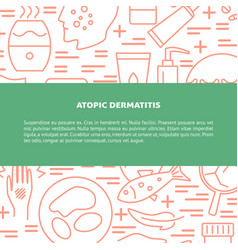 Atopic dermatitis concept background in line style vector