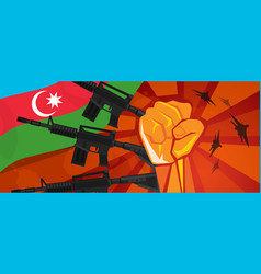 azerbaijan fighting spirit strong military force vector image