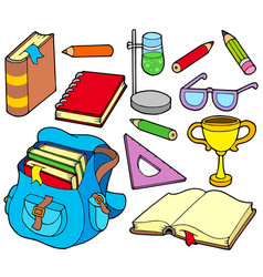 back to school collection 4 vector image