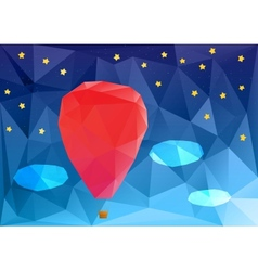 Ballon at night poplygonal vector