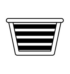 Basket for laundry clothes vector