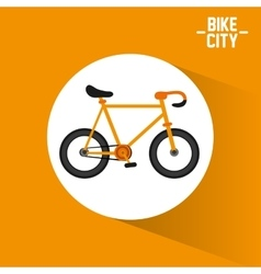 Bike city and healthy lifestyle design vector