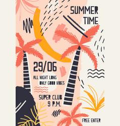 bright colored invitation or poster template vector image