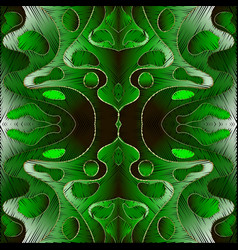 bright green embroidery abstract 3d seamless vector image