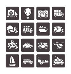 cartoon hand drawn transport icon set vector image