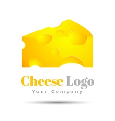 Cheese Colorful 3d Volume Logo Design Corporate vector image