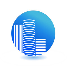 city business buildings icon vector image