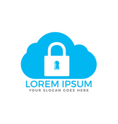 cloud security logo design vector image