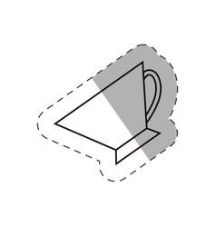 coffee cup beverage hot vector image