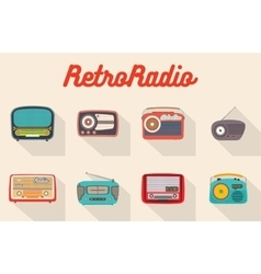 Collection of flat radio recievers vector image