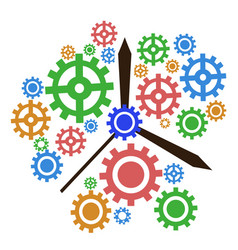 color gear clock background vector image