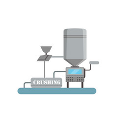 crushing process beer brewing production vector image