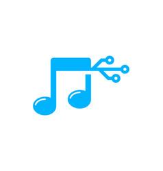Digital music logo icon design vector
