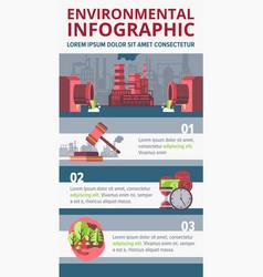 environmental infographic concept vector image