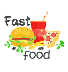 Fast food sticker vector