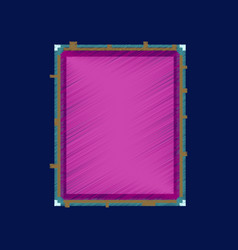 Flat shading style icon pixel sandwich vector