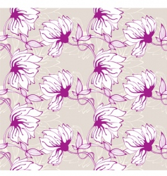 flower wallpaper pattern vector image