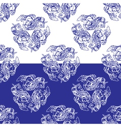 flowers blue seamless 2 380 vector image