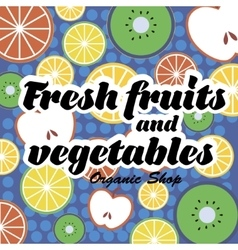 Fruits and Vegetables pattern vector image