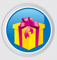gift button vector image