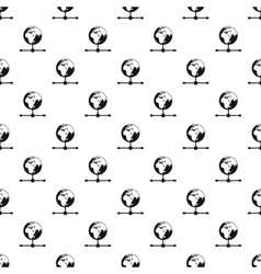 Globe pattern simple style vector image