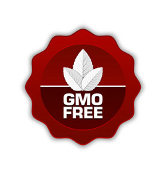GMO Free icon vector image