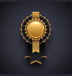 gold and black award badge with glitter gold vector image
