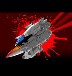 great spaceship vector image