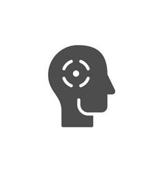 headache icon and head pain symbol vector image
