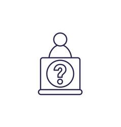 help desk icon line vector image