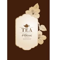 Hibiscus tea carcade vector