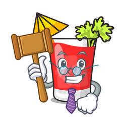 Judge bloody mary mascot cartoon vector