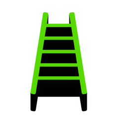 Ladder sign green 3d icon vector