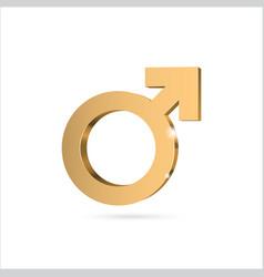 Male gender symbol mars vector