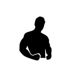 man with muscles vector image