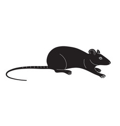 monochrome mouse isolated on white vector image