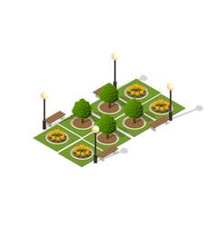 natural park urban landscape vector image