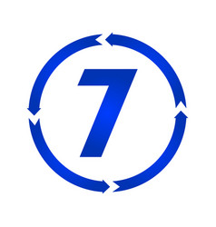 number 7 icon vector image
