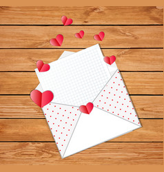 opened envelope with empty blank and many folded vector image