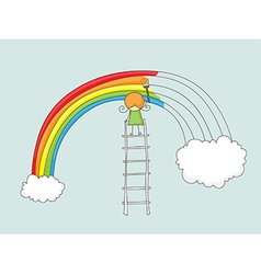painting rainbow vector image