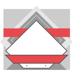 pattern triangular design frame for text vector image