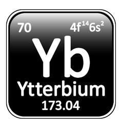 Periodic table element ytterbium icon vector