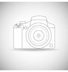 Photo camera outline vector image