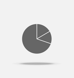 pie graph chart flat design icon with shadow vector image