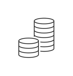 pile of coins icon vector image vector image