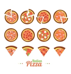 Pizza Food Set vector image