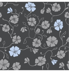 Renaissance Floral Seamless Pattern vector image
