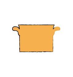 Saucepan kitchen cookware vector